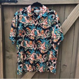 Robert Stock Hawaiian girl shirt size M